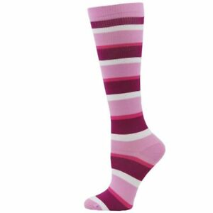 CLEARANCE! Medical Nurse Pink Stripe 8-14mmHG Fashion Compression Socks