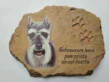 Schnauzers Leave Paw Prints On Our Hearts Plaque Linda Picken