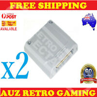 2x New 256k Controller Pak Memory Card Save Pack For N64 Game Nintendo 64