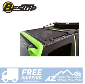 Bestop Retractable Sunshade for 07-18 Jeep Wrangler JK JKU with Soft Top