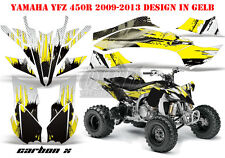 AMR Racing DECORO GRAPHIC KIT ATV Yamaha YFZ 450 04-14,yfz 450r 09-16 CARBON-x B