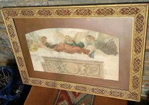c1858 Saint Catherine with Angels 'Bernardo Luini'~Framed~ Arundel Society Print