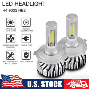 H4 9003 LED Headlight Bulbs for Suzuki Grand Vitara 99-05 6000K Hi/Low Beam Lamp