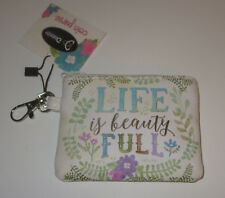 Life Is Beauty Full Coin Purse Clip New Divinity