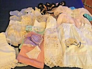 VINTAGE Lot Used Doll Clothes Dresses Shoes Socks Pajamas High Heels Petticoats