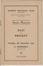 More details for barnet past v barnet present programme 1952 - superb condition