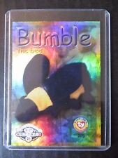 Ty Beanie Babies Series Ii S2 ~ Silver ~ Retired Bboc Card Bumble the Bee