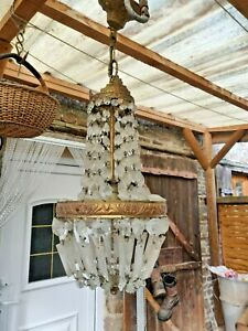 crystal chandelier French art deco restoration project