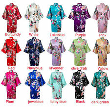 Women Short floral Robe Dressing Gown Bridal-Wedding Bride Bridesmaid Kimono/