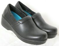 Dr. Scholl's Work Black No Slip Leather Casual Comfort Clogs Women's US 8M