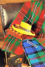 2 TARTAN RUGS 8ply or DK - COPY Afghan crochet pattern
