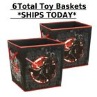 (6) Star Wars Darth Vader Kids Toy Baskets with Rope Handles *SHIPS TODAY*