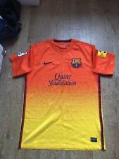 Nike Barcelona Football Shirt Size M Medium Away Orange Yellow Dri Fit