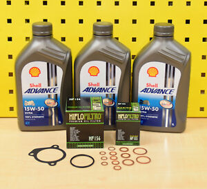 KTM LC4 400/620/ 625/640/660 Mantenimiento/Cambio Aceite Kit + Shell 15W