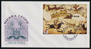 Sierra Leone 1727 on FDC - Wall Painting of Mounted Hunters, Tomb of the Dancers