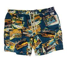 New listing CARIBBEAN JOE Swim Trunks Vacation Beach Island  Aloha Trinidad Florida Sz XXL