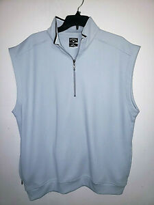 Mens Callaway Golf Gray Sleeveless Vest 1/4 Zip Size 2XL XXL