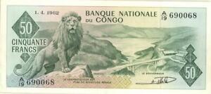 Congo Democratic Republic 50 Francs Banknote 1962