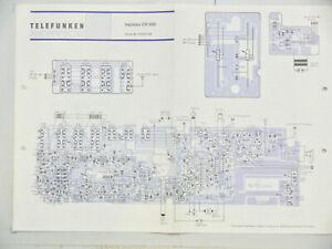 Telefunken Service bajazzo CR 950 Schaltplan Belegungsplan