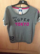 BNWT Superdry women Slouch Crew Sweat Top grey Size L