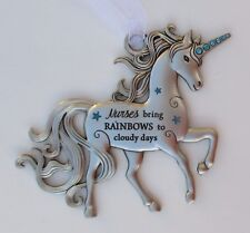 z Nurses bring rainbows on cloudy days I BELIEVE IN UNICORNS unicorn ornament