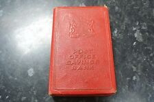 Antique Post Office Savings Bank Money Box Rare Plain Red Version