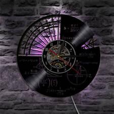 Vinyl CD Wall Clock Math Clocks for Kids LED Backlight Wall Watch Home Decor