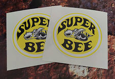 2 dodge super bee classic stickers voiture 85mm ronde muscle car decals