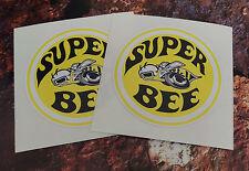 2 DODGE Super Ape Classica Adesivi Auto 85mm ROUND MUSCLE CAR Decalcomanie