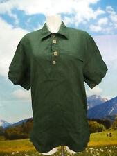 Gr.M Trachtenhemd Hemd Country Line grün leichte Baumwolle Leinen TH1357