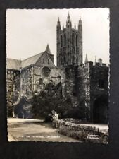 Vintage Real Photo Postcard #TP987:  Cathedral, Canterbury: Posted 1956