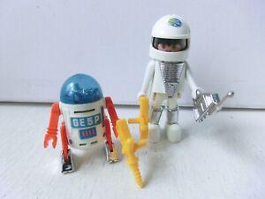 PLAYMOBIL VINTAGE PLAYMOSPACE GE5P ROBOTER ASTRONAUT  KLICKY SYSTEM GEOBRA