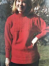 U11 - Knitting Pattern - Traditional Guernsey Patterned Unisex Jumper - 3 Sizes