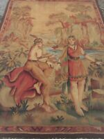 Antique French aubusson tapestry.( Unusual Subject )