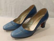Vintage Womens size 6 1/2 Andrew Geller Blue Shoes Pump Low Heels 6.5
