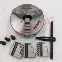 "4"" Lathe Chuck 3 Jaw Self-Centering Hardened Steel CNC Drilling Milling Machine"