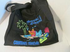 Cayman Islands Beach Shoulder Bag Black Embroidered Shopped Til I Dropped