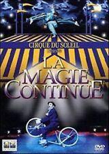 Dvd LA MAGIE CONTINUE ** Cirque Du Soleil ** ......NUOVO