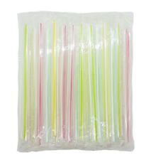 "BOBA STRAWS KARAT 50 Individually Wrapped Bubble Tea 1/2"" Wide  7.5"" USA Seller"