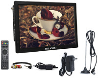 "Portable TV Rechargeable 14"" LED Digital Television HDMI VGA MMC FM USB/SD AC/DC"