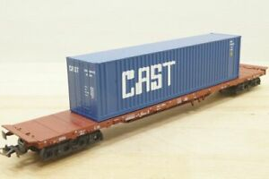 """Lima Flat Wagon With Container """" Cast """" Type Rs N° 11 80 391 4 335-9 DB 2 L ="""