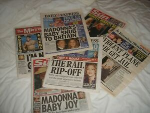 Madonna Newspaper Clippings Cuttings