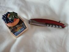 Sommelier Corkscrew/foil Cutter Red Also Cork Topper Will Be Sent Signed for