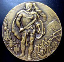 Portugal Military Shield / Warrior by Vasco Berardo / 90 mm Bronze Medal / N116