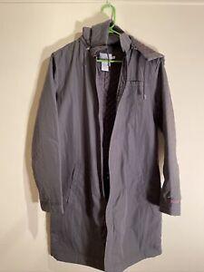 CALVIN KLEIN JEANS Womens LONG Quilted Winter RAIN Jacket COAT Size M Medium