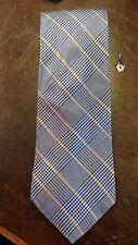 Van Heusen Blue Yellow Plaid Executive Designer Mens Suit Necktie Free Shipping