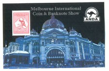Australia-Coin & Banknote Show min sheet -Imperf $10 kangaroo- mnh-2013(4081)