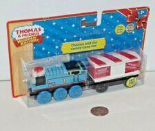 Thomas Friends Wooden Railway Train Tank - Christmas Engine & Candy Cane Car NEW