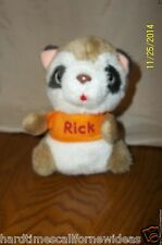 "Hallmark Shirt Tales Rick Raccoon 1980 plush stuffed vintage 6"""