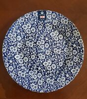NEW (4) ROYAL WESSEX BLUE WHITE FLORAL DINNER PLATES SPRING HOME DECOR